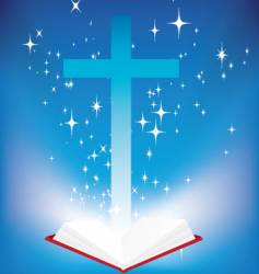 bible light book vector image vector image