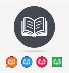 book icon study literature sign vector image