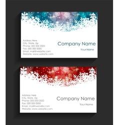 Company christmas business card vector