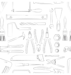 Construction tools pattern vector
