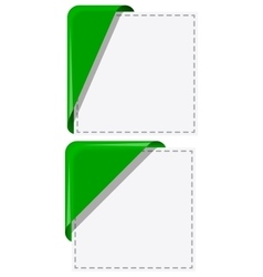 Corner ribbons set vector image
