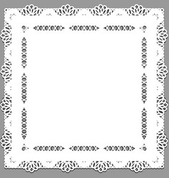 Delicate lace doily on a gray background vector