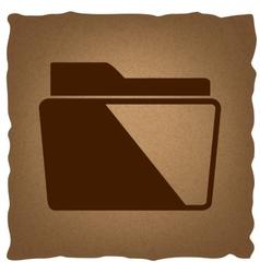 Folder sign Vintage effect vector image vector image
