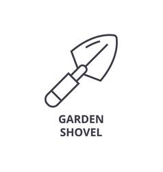 garden shovel line icon outline sign linear vector image