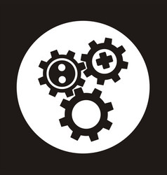 gear icon flat design best icon vector image