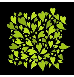 Green hearts background for your design vector image vector image
