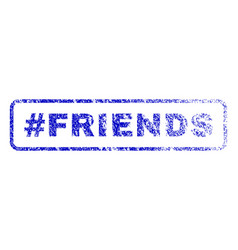 hashtag friends rubber stamp vector image vector image