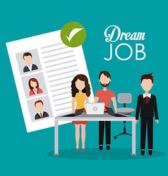 Job and work design vector
