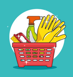 Laundry basket icon vector