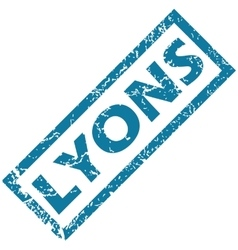 Lyons rubber stamp vector