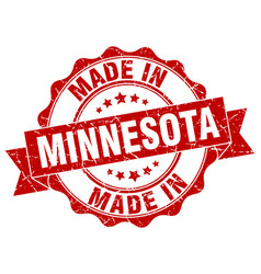 Made in minnesota round seal vector