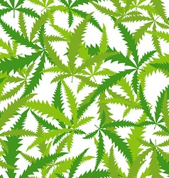Marijuana Cannabis seamless pattern background of vector image