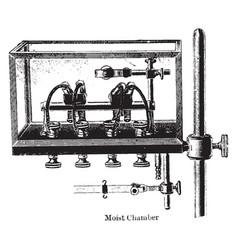 Moist chamber vintage vector