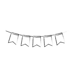party garland isolated icon vector image vector image