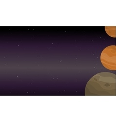 Planet outer space of landscape vector