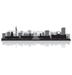 Pretoria city skyline silhouette vector image vector image