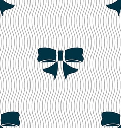 Ribbon Bow icon sign Seamless pattern with vector image vector image