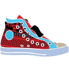 Sport shoes design vector image