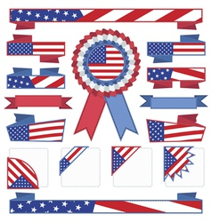 usa stitched ribbons vector image vector image