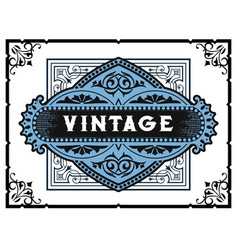 Vintage card elements by layers vector