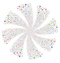 Warning fireworks swirl flower vector