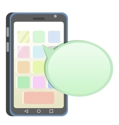 Flat mobile phone vector
