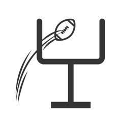 icon goal football american ball isolated vector image