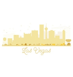 Las Vegas City skyline golden silhouette vector image
