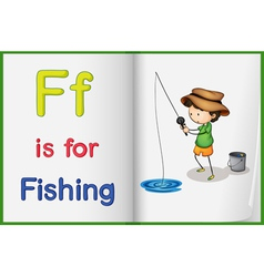 Fishing and a book vector