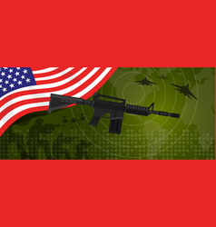 Usa united states of america military power army vector