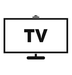 Television icon simple style vector