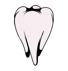 White tooth icon icon cartoon vector