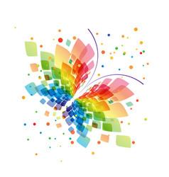 Splash butterfly on white background vector