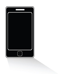mobile phone icon black vector image