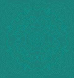 circle pattern green vector image