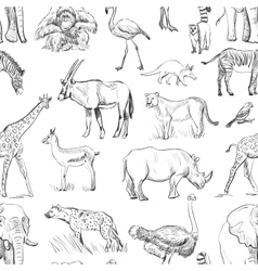 Seamless animal planet pattern vector