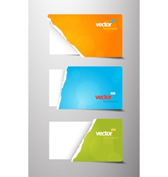 Set of teared gift cards vector