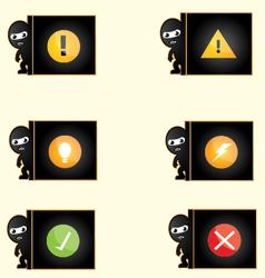 Thief alert icon vector