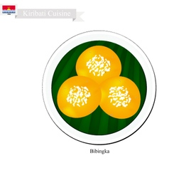 Bibingka or kiribati rice cakes with cheese vector