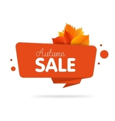 Autumn Leaves Sale Background labels banner vector image