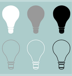 Bulb or electric light icon bulb or electric vector