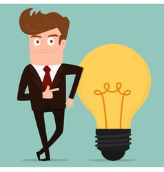 Businessman with big idea vector