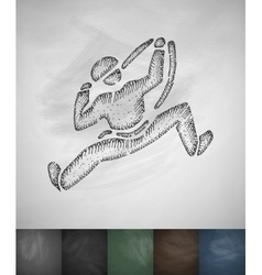 Climber icon hand drawn vector