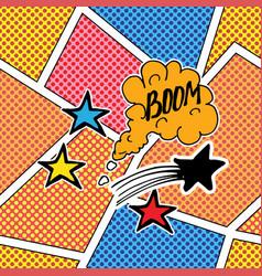 comic book speech bubble cartoon sound effect vector image vector image