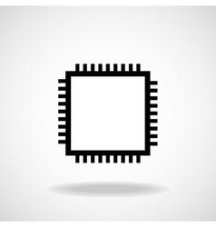 Cpu Microprocessor Microchip vector image