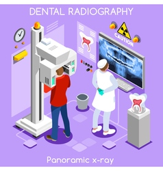 Dental x ray isometric people vector