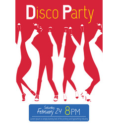 Disco night party event flyer invitation vector