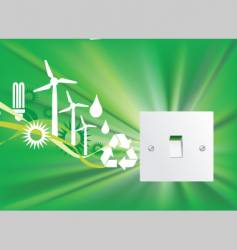 eco switch vector image vector image