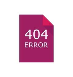 Error 404 file Concept vector image