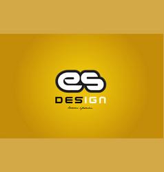 Es e s alphabet letter combination digit white on vector